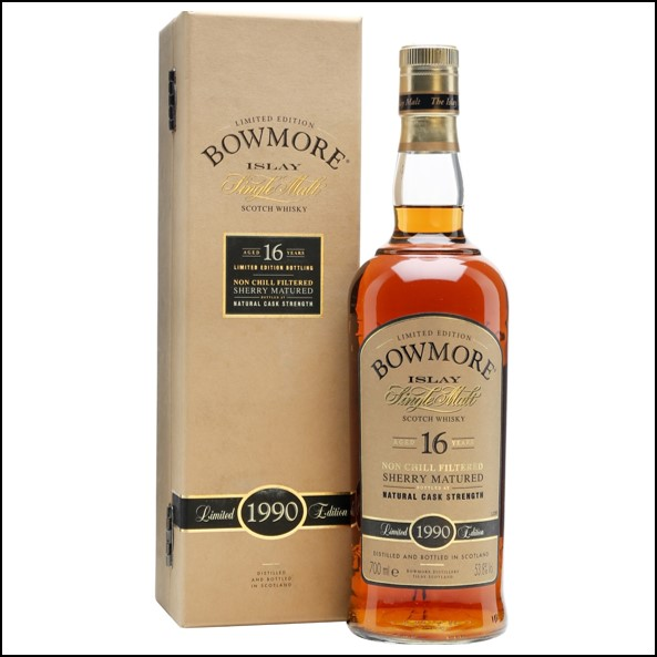 Bowmore 16 Year Old 1990 Sherry Cask 70cl 53.8%