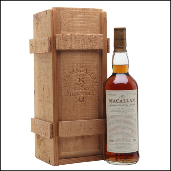 收購麥卡倫25年 2000/Macallan 25 Year Old 1975 Bot.2000 75cl 43%