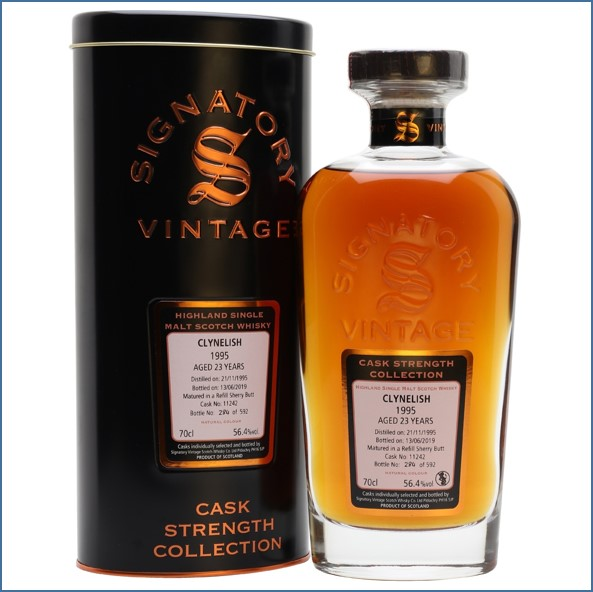 Clynelish 1995 23 Year Old 2019 Signatory Highland Single Malt Scotch Whisky 70cl 56.4%