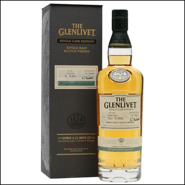 Glenlivet 14 Year Old  Conglass  Single Cask 70cl 59.8%