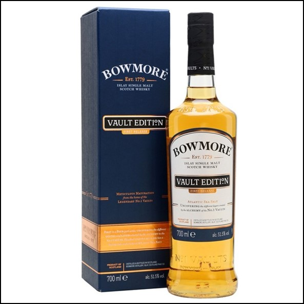 BOWMORE Vault Edition 1st Edition Of 51.5%/波摩 VAULT EDITION 大西洋海鹽/Bowmore Whisky 波摩威士忌收購價格表/台灣洋酒收購中心