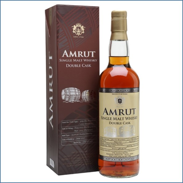 Amrut Double Cask 3rd Edition Indian Single Malt Whisky 70cl 46%