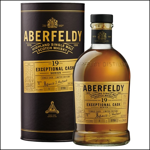 Aberfeldy release Exceptional Cask 19 Year Old Small Batch 70cl 43%