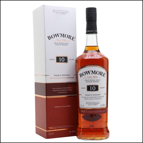 Bowmore 10 Year Old Dark 100cl 40%/波摩10年收購