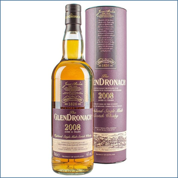 Glendronach 2008 Pedro Ximenez Casks 11 Year Old 2019 Single Highland Malt Whisky 70cl 46%