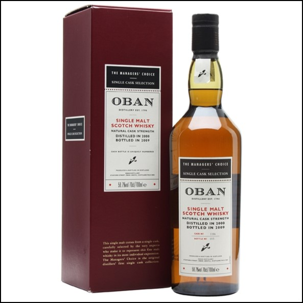 Oban 2000 Managers' Choice Cask 1186 70cl 58.7%