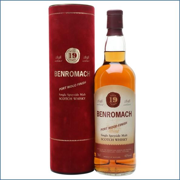 收購百樂門19年威士忌,百樂門19年威士忌收購, Benromach 19 Year Old  Port Wood 70cl 45%