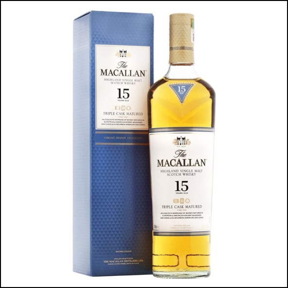 Macallan 15 Years Old Fine Oak  light label