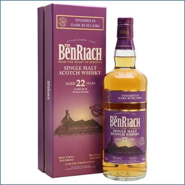Benriach 22 Year Old Dark Rum 70cl 46%