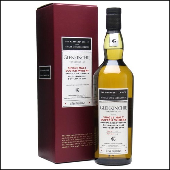 Glenkinchie 1992 17 Year Old Managers' Choice 2009 70cl 58.1%