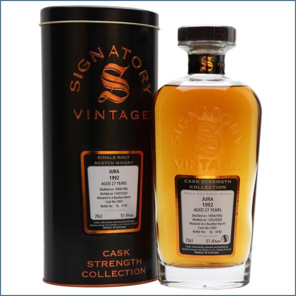 Isle Of Jura 1992 27 Year Old Signatory Island Single Malt Scotch Whisky Signatory 70cl 51.4%