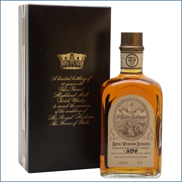 Glen Grant 25 Year Old Royal Wedding Reserve Speyside Single Malt Scotch Whisky
