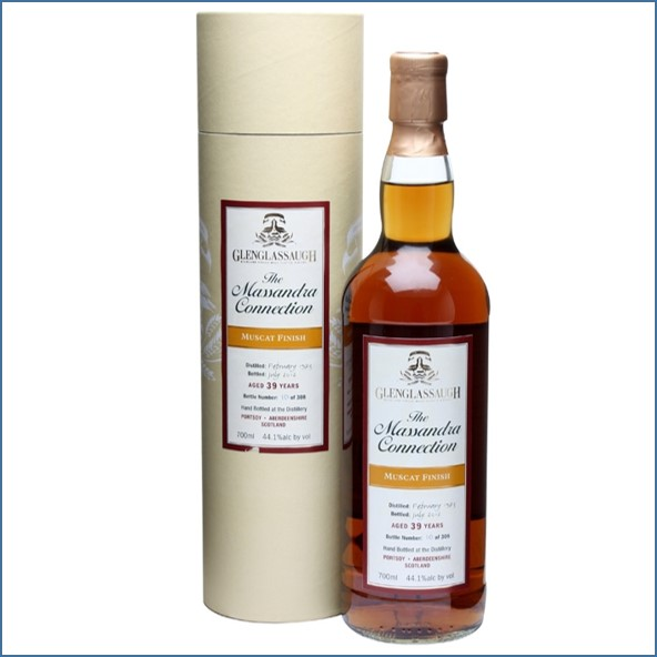 Glenglassaugh 1973 39 Year Old Muscat Finish Massandra Highland Single Malt Scotch Whisky 70cl 44.1%