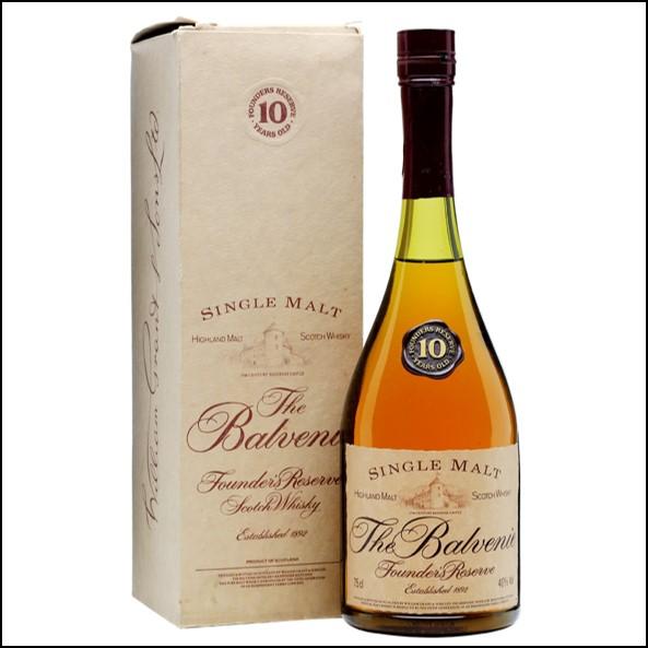 收購百富威士忌Balvenie 10 Year Old  Founder's Reserve  Bot.1980s 75cl 40%
