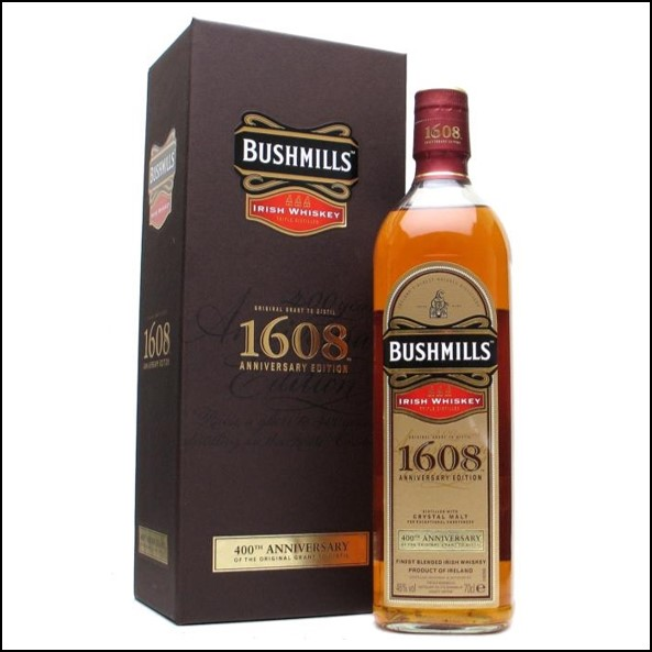 波希米爾愛爾蘭威士忌收購/ Bushmills 1608 400th Anniversary Blended Whiskey 70cl 46%