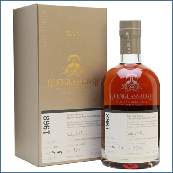 Glenglassaugh 1968 47 Year Old Cask #2230 Matured in a Pedro Rare Cask Release Batch 3 70cl 46.1%