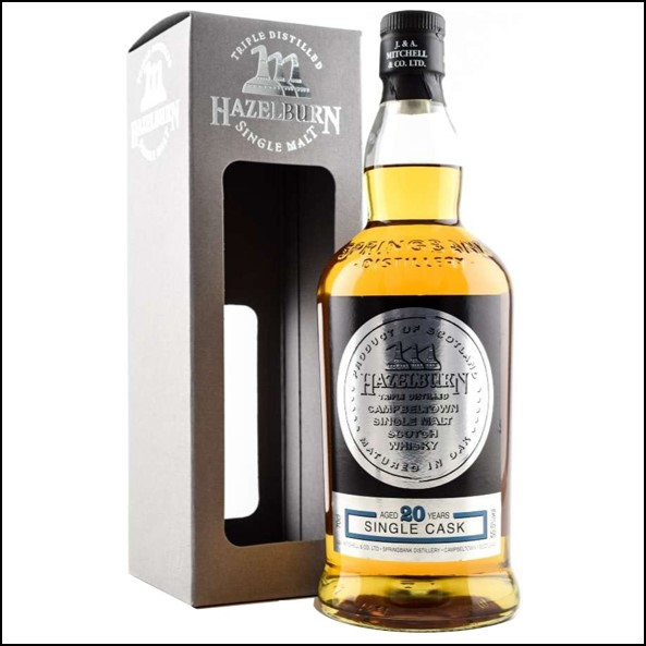 Hazelburn 20 Year Old 1998-2018 Refill Bourbon Barrel 70cl 55.5%