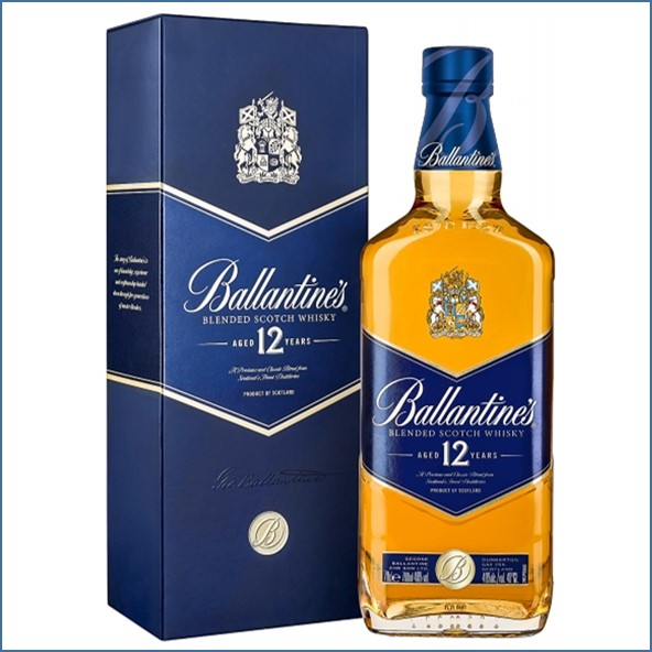 Ballantines 12 Year Old Blended Scotch Whisky 70cl 40%