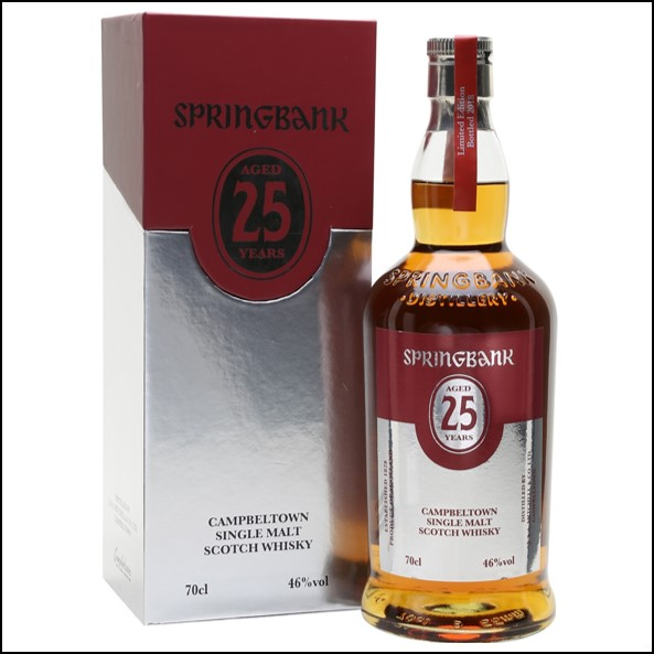 雲頂威士忌25年收購/Springbank 25 Year Old Bot.2018 Release Campbeltown Single Malt Scotch Whisky 70cl 46%