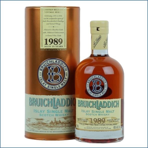 Bruichladdich 18 Year Old 1989 kosher wine finish 70cl 46%