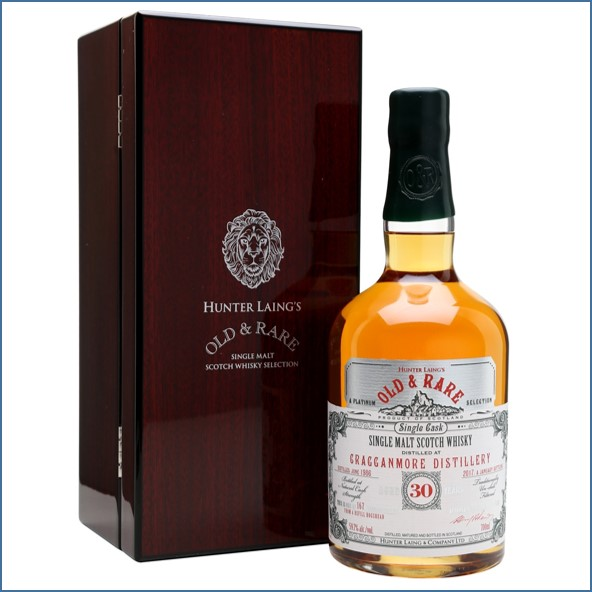 Cragganmore 1986 30 Year Old Old & Rare Speyside Single Malt Scotch Whisky Hunter Laing 70cl 59.7%
