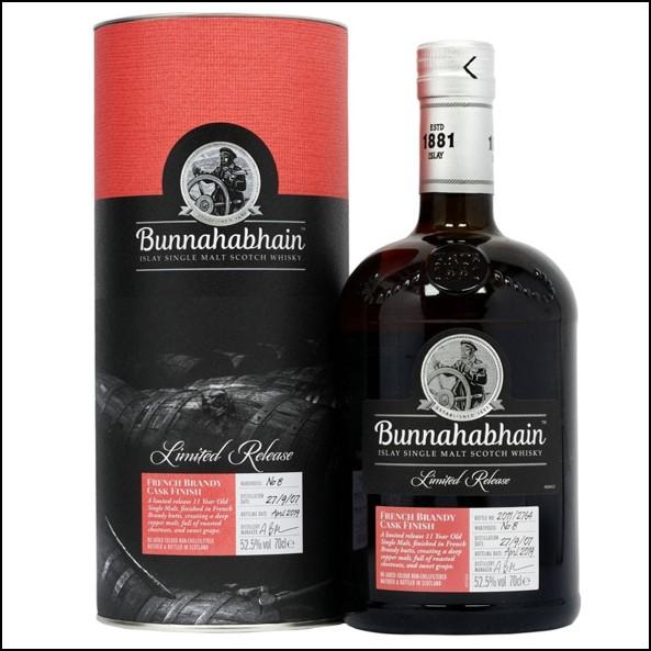 Bunnahabhain 11 Year Old  French Brandy Cask Finish 2007 70cl 52.5%