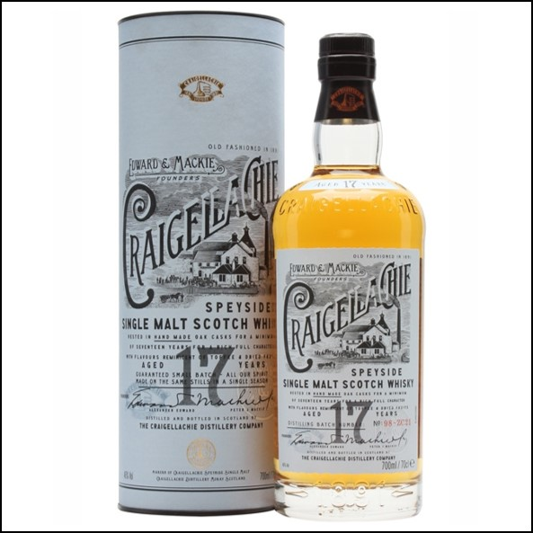 Craigellachie 17 Year Old Speyside Single Malt Scotch Whisky 70cl 46%