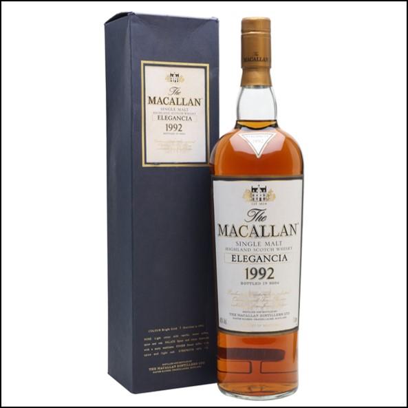 收購麥卡倫12年 ELEGANCIA 1992-曼妙瓶/Macallan 1992 Elegancia Bot.2004 100cl 40%
