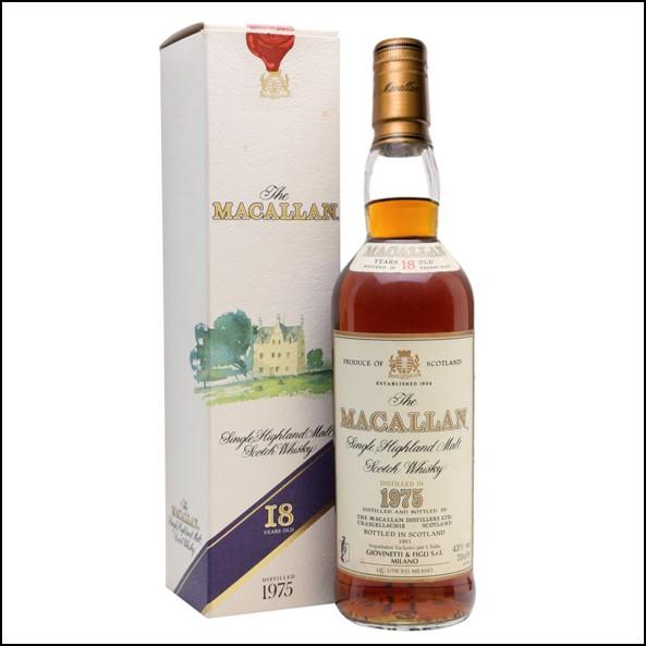 麥卡倫18年  1975 圓瓶/方紙盒
