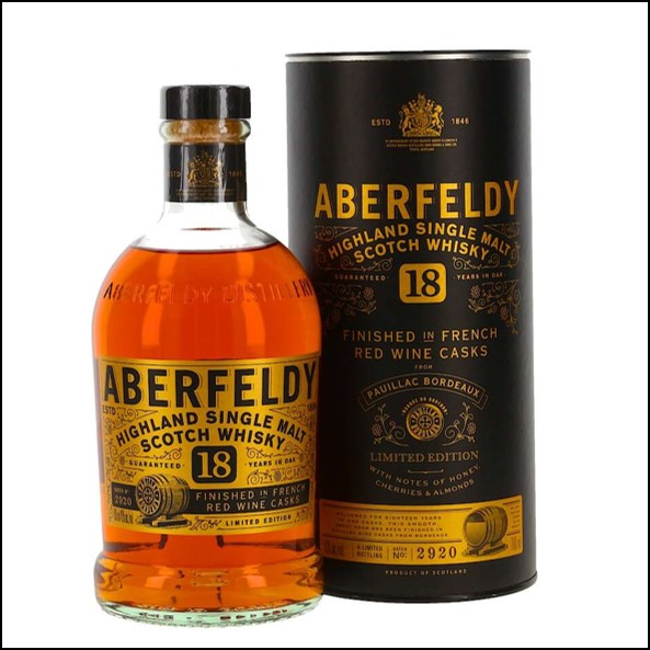 Aberfeldy 18 Years Pauillac Red Wine Finish 70cl 43%