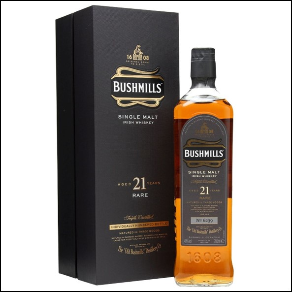 波希米爾愛爾蘭威士忌收購/ Bushmills 21 Year Old Madeira Finish Irish Single Malt Whiskey 70cl 40%