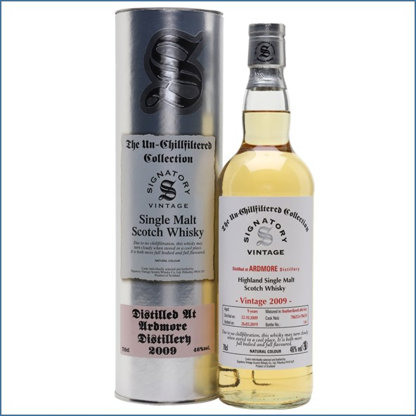 Ardmore 9 Year Old 2009 Signatory 70cl 46%