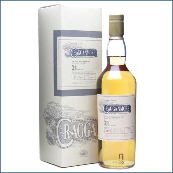 Cragganmore 21 Year Old 1989 Speyside Single Malt Scotch Whisky 70cl 56%