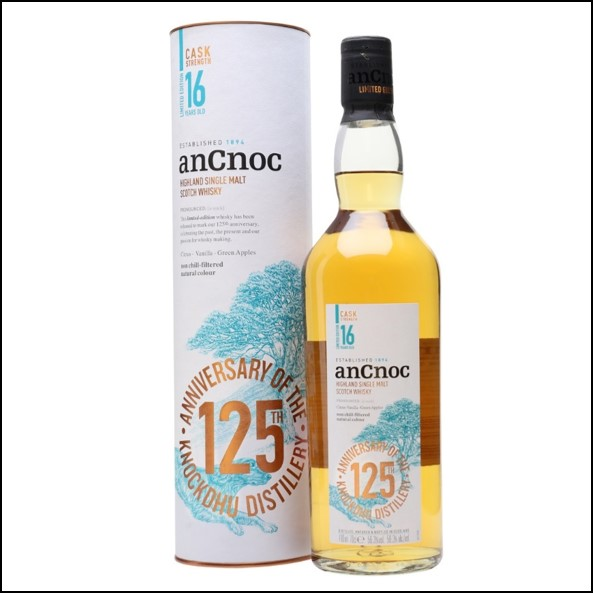 ANCNOC 16 YEAR OLD CASK STRENGTH 125th Anniversary 70cl 56.3%