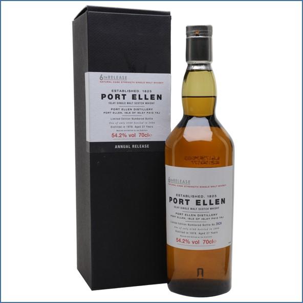 Port Ellen 1978  27 Year Old  6th Release 2006 70cl 54.2%