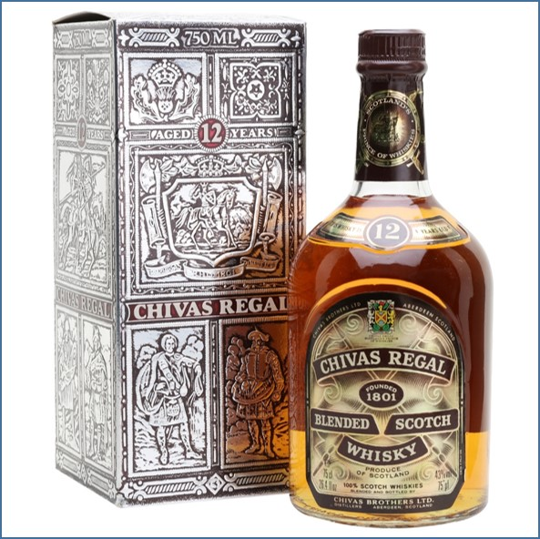Chivas Regal 12 Year Old Bot.1980s Blended Scotch Whisky 75cl 43%