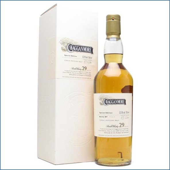 Cragganmore 29 Year Old 1973 Speyside Single Malt Scotch Whisky 70cl 52.5%