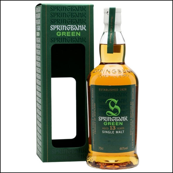 雲頂威士忌13年收購/Springbank Green 13 Year Old Sherry Cask Campbeltown Single Malt Scotch Whisky 70cl 46%