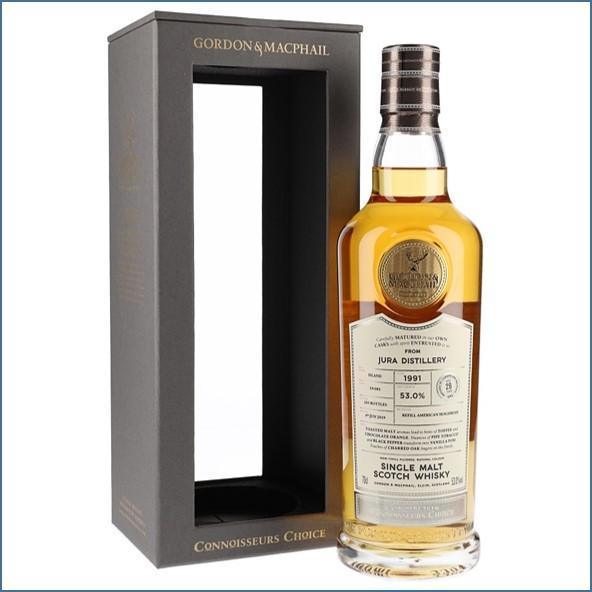 Isle of Jura 1991 28 Year Old Connoisseurs Choice Island Single Malt Scotch Whisky Gordon & MacPhail 70cl 53%