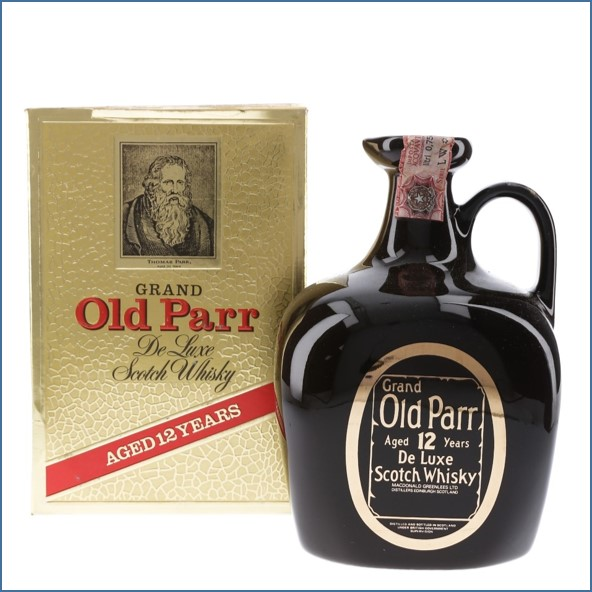 Grand Old Parr 12 Year Old De Luxe Bottled 1980s Ceramic Decanter 75cl 40%