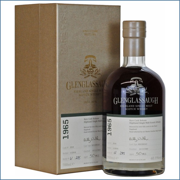 Glenglassaugh 1965 50 Year Old Cask #3510 Matured in a Hogshead Rare Cask Release Batch 3 70cl 40.1%