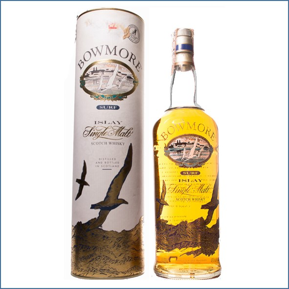 Bowmore Surf old Label Siebdruck 100cl 40%