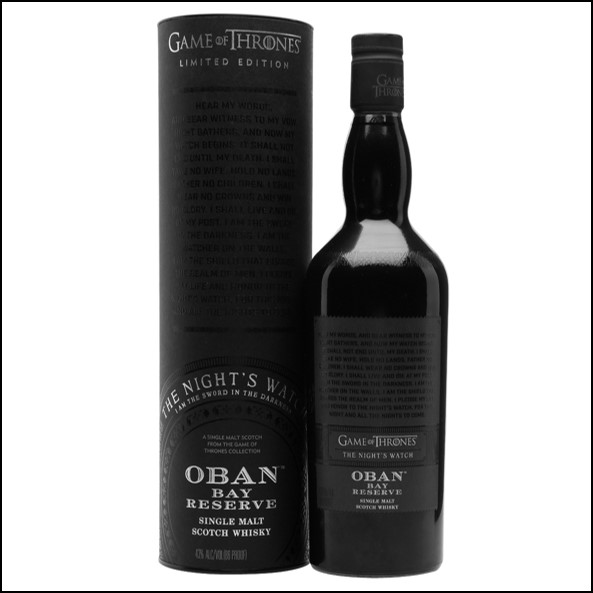 Oban Bay Reserve Game of Thrones Night's Watch 70cl 43%