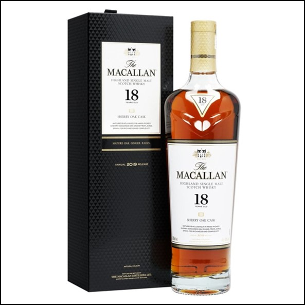 Macallan 18 Year Old - Sherry Oak  2019