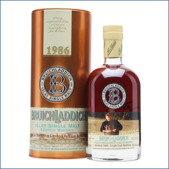 Bruichladdich 20 Year Old1986 Bot.2006 Signed 70cl 54.9%