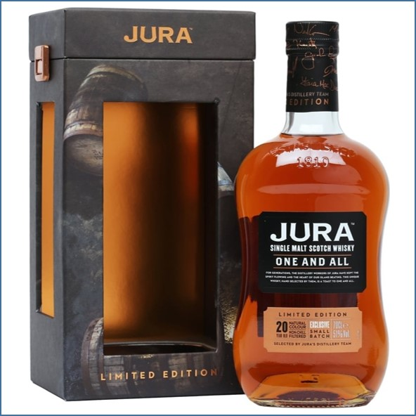 Isle of Jura 20 Year Old One and All  Bot.2017 Island Single Malt Scotch Whisky 70cl 51%