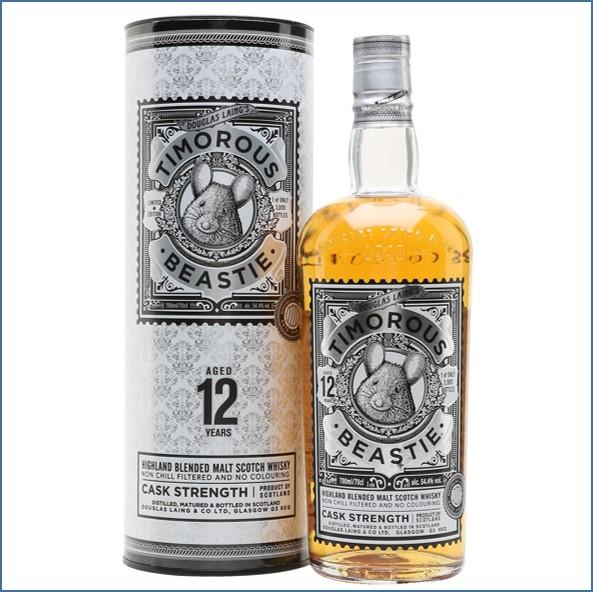 Timorous Beastie 12 Year Old Highland Blended Malt Scotch Whisky Douglas Laing 70cl 54.4%