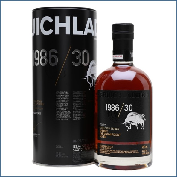 Bruichladdich 30 Year Old 1986 The Magnificent 7  Rare Cask Series 70cl 44.6%