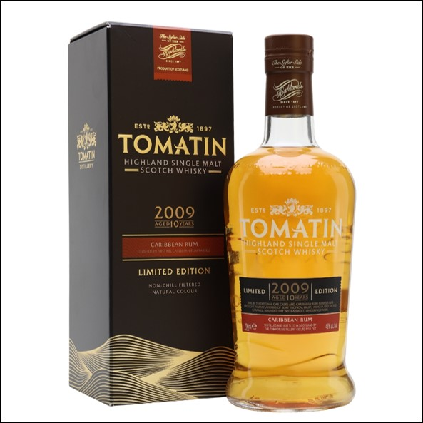 Tomatin 2009  10 Year Old  Rum Finish 70cl 40%