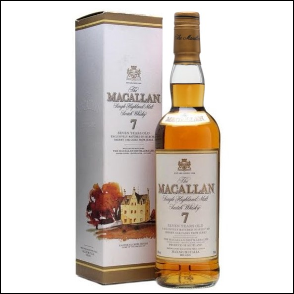 麥卡倫7年/圓瓶-莊園版Macallan 7 Year Old Italia Speyside Single Malt Scotch Whisky 70cl 40%